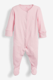 Next 3 Pack GOTS Certified Organic Cotton Sleepsuits (0-2yrs) - 260530