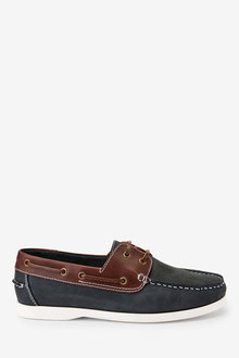 Next Leather Boat Shoes - 260573