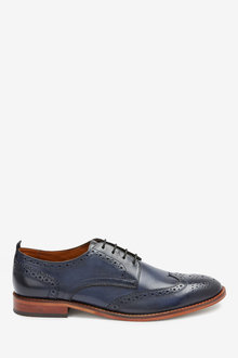 Next Contrast Sole Leather Brogues - 260599