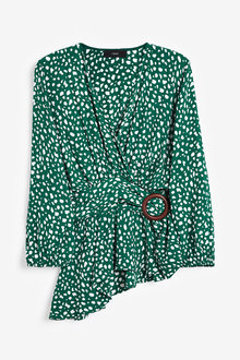 Next Printed Wrap Top With Buckle - 260666