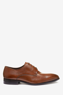 Next Signature Textured Leather Derby Shoes - 260696