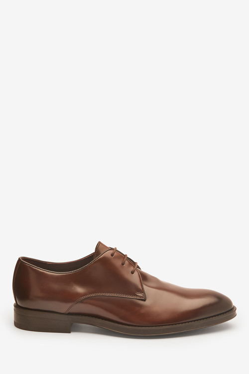 Next Signature Italian Leather Derby Shoes