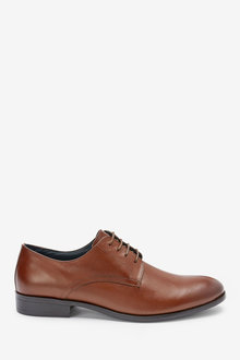 Next Round Toe Leather Derby Shoes - 260710