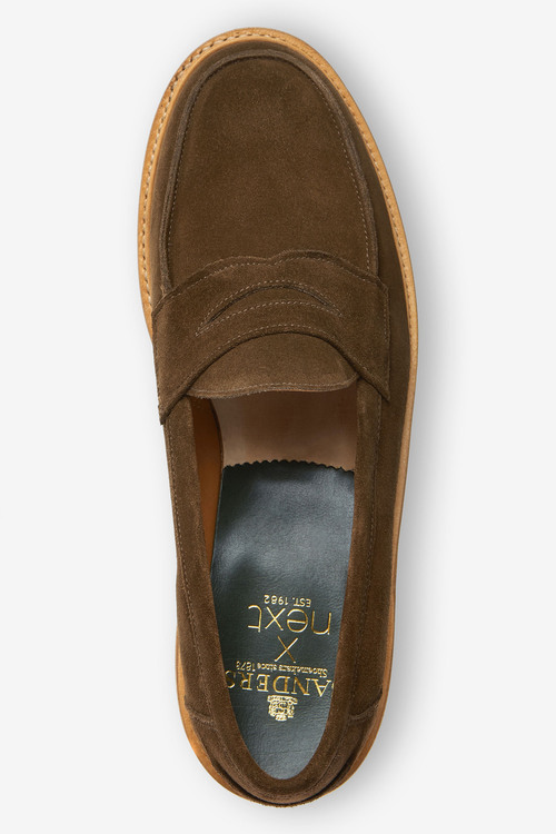 Next Sanders for Next Suede Penny Loafers