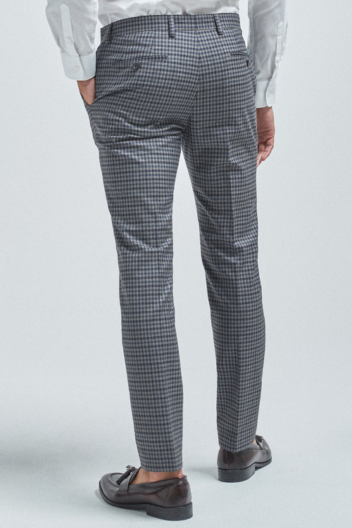 Next Gingham Check Suit: Trousers