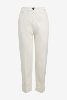 Next Cotton Twill Taper Trousers-Petite - 260802