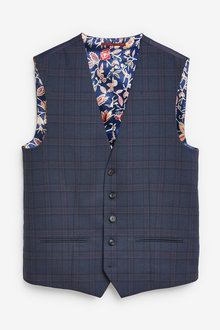 Next Check Suit: Waistcoat - 260803