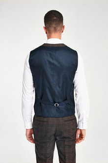 Next Check Suit: Double Breasted Waistcoat - 260808