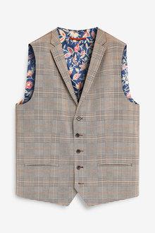 Next Check Suit: Waistcoat - 260811