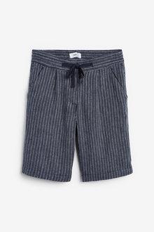 Next Linen Blend Knee Shorts-Petite - 260829