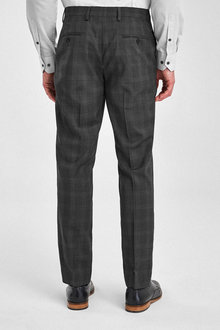 Next Tollegno Signature Birdseye Check Suit: Trousers - 260876