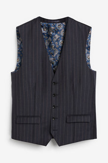 Next Empire Mills Signature Stripe Suit: Waistcoat - 260883