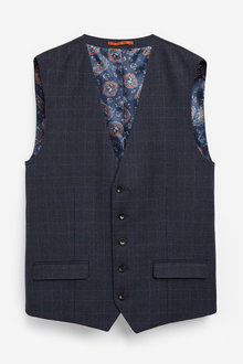 Next Empire Mills Signature Check Suit: Waistcoat - 260885