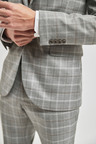 Next Check Suit: Jacket-Skinny Fit