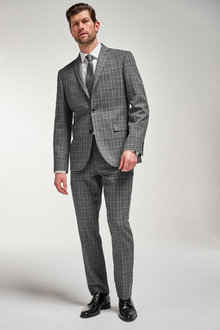Next Check Suit: Jacket-Tailored Fit - 260901
