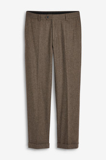 Next Herringbone Suit: Trousers-Tailored Fit - 260903