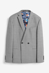 Next Check Suit: Jacket-Double Breasted Slim Fit
