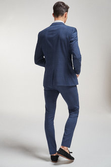 Next Check Suit: Jacket-Super Skinny Fit - 260914