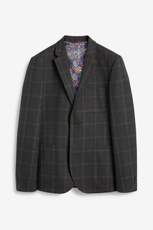 Next Micro Check Slim Fit Blazer - 260935