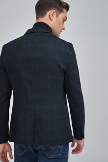 Next Check Stretch Slim Fit Blazer - 260936