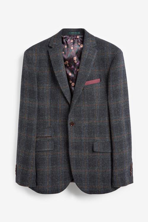 Next Tailored Fit Harris Tweed Signature Blazer