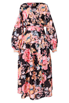 Ginger & Smart Floral Charts Wrap Dress - 261039
