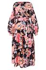 Ginger & Smart Floral Charts Wrap Dress