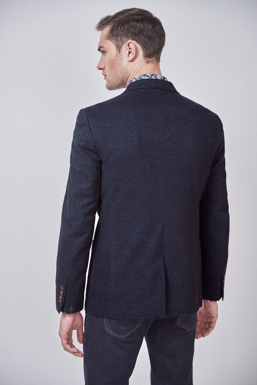 Next Textured Blazer-Slim Fit