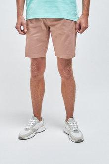 Next Stretch Chino Shorts-Slim Pleat - 261162
