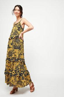 Tiered Maxi Dress-Petite - 261174