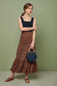 Maxi Tiered Skirt-Petite - 261177
