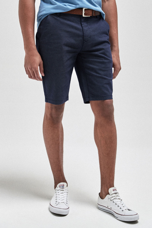 Next Ditsy Print Belted Chino Shorts-Slim Fit