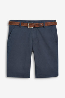 Next Ditsy Print Belted Chino Shorts-Slim Fit - 261203