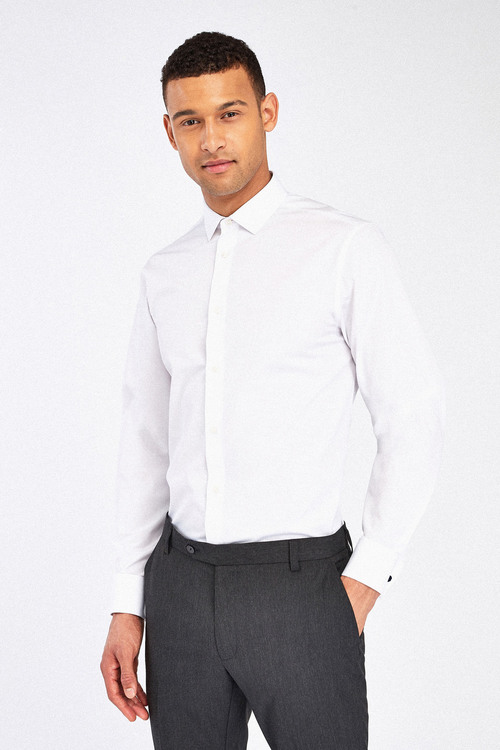 Next Easy Care Shirt-Regular Fit Double Cuff