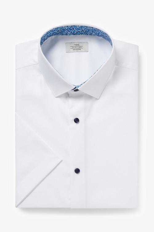 Next Trim Detail Shirt-Regular Fit Short Sleeve