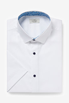 Next Trim Detail Shirt-Regular Fit Short Sleeve - 261251