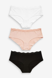 Next Bamboo And Cotton Knickers Three Pack-Short - 261256