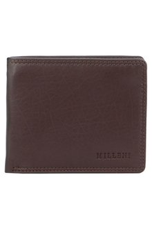Milleni Mens Leather Slimline Wallet - 261372