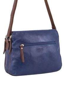 Milleni Multi-Zip Leather Crossbody Bag - 261374