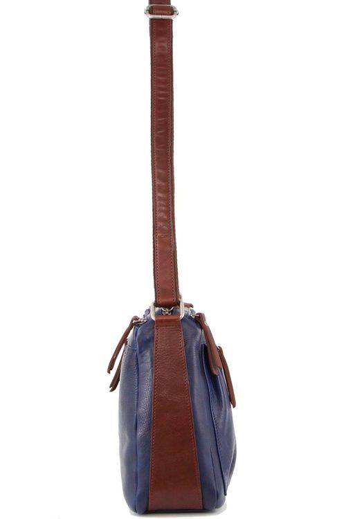 Milleni Multi-Zip Leather Crossbody Bag