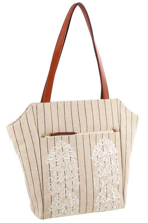 Milleni Textured Shopper Tote Bag