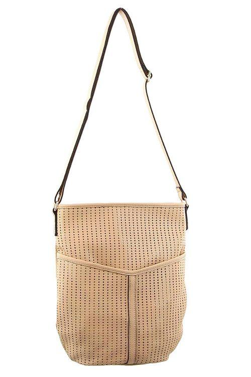 Milleni Perforated Crossbody Bag