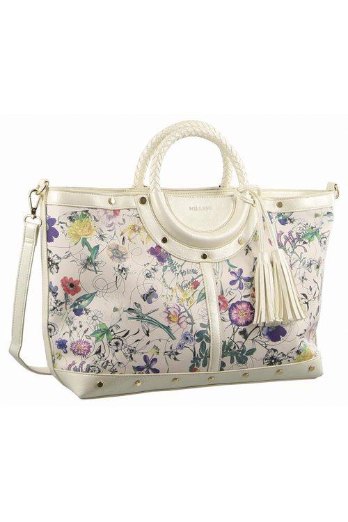 Milleni Floral Fashion Tote Handbag