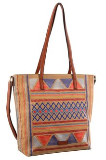 Milleni Patterned Tote Bag - 261418