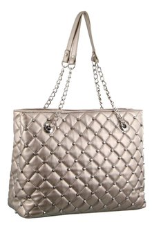 Milleni Quilted Shoulder Bag With Studs - 261425