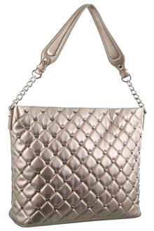 Milleni Quilted Tote Bag With Studs - 261428