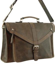 Morrissey Hunter Leather Laptop Bag - 261443