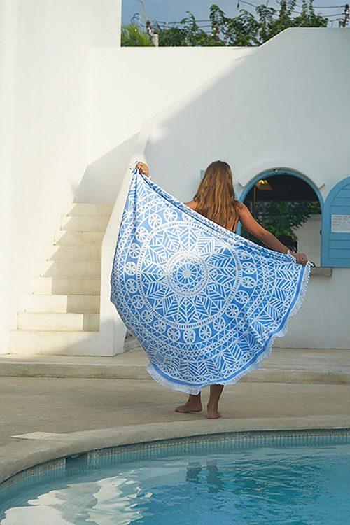 Bambury Printed Round Towel