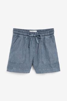 Next Linen Blend Shorts - 261677