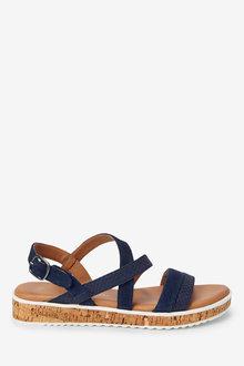 Next Forever Comfort Cork Flatform Sandals - 261728